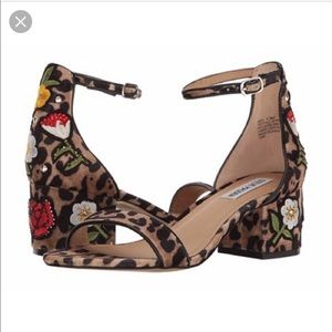 Steve Madden Cheetah and Floral Inca Sandals